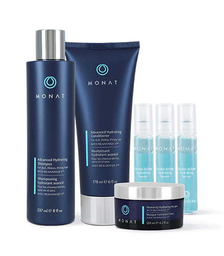 Shampoo and conditioner advanced hydrating system monat hair